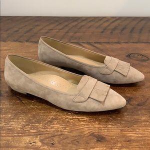 Vaneli Women's GAEA Truffle Suede Flats  Size 8.5